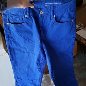 Size 6 liz Claiborne electric blue jeans